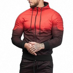 Men's Printed Long Sleeve Comfortably Relief Bodybuilding