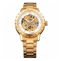 Relógio Automático Masculino Ouro Amarelo Esqueletico