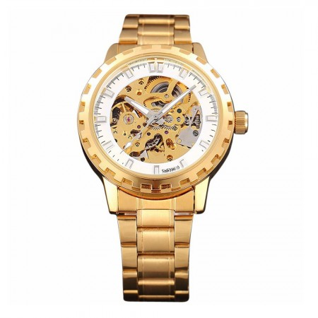 29509a299a8 Relógio Automático Masculino Ouro Amarelo Esqueletico