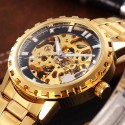 Automatic Watch Male Yellow Gold Skeletal