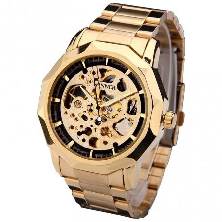 Clock Pulse Great Golden Stylish Male Skeletal