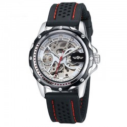 Casual watch Stylish Sports Skeletal Automatic Black