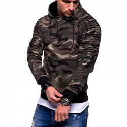 Men's Sweatshirt Fashion Winter Military Camouflage Print