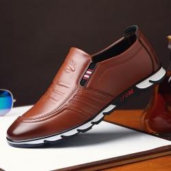 Men's Marerial Men's Casual Shoe Elegant Shiny Casual Leather