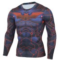 Super Hero Men's Print Shirt Long Sleeve Characters