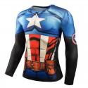 Camisa Super Hero Masculina Estampada Personagens Manga Longa