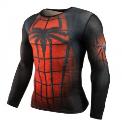 Super Hero Men's Print Shirt Long Sleeve Characters