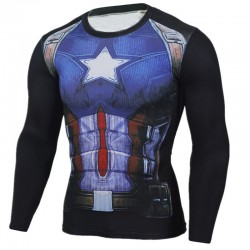 Camisa Super Hero Masculina Estampada Personagens Manga Longa