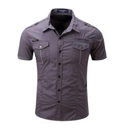 Camisa Masculina Manga Curta Estilo Social Esportiva Militar General