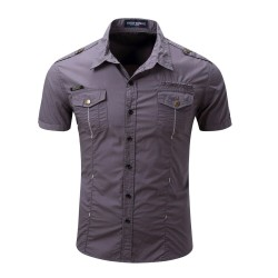 Men's Shirt Short Sleeve Sports Style Military Sports General