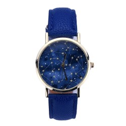 Clock Female Galaxy Casual simple accessory Blue Quartz Cheap