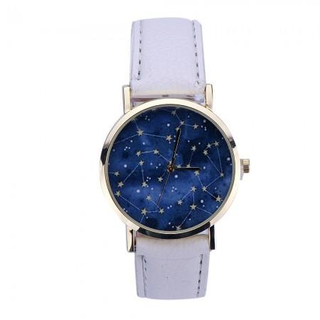 Relógio Feminino Galaxy Casual Simples Acessorio Azul Quartzo Barato