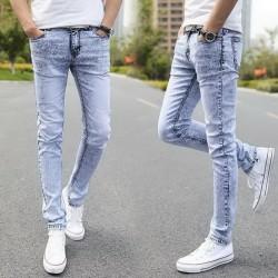 Calça Masculina Jeans Skinny Cor Lavada Tom Azul Alaro