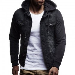 Men's Jeans Hooded Jacket Fashion Winter Hooded Sweatshirt