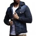 Men's Jeans Hooded Jacket Fashion Winter Hooded Sweatshirt