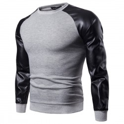 Men's Two-color Embossed Long Sleeve Men's T-Shirt