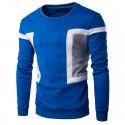 Camiseta Masculina Estampado Retalhos Nova Moda Inverno