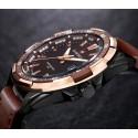 Relógio Elegante Masculino em Couro Genuíno Naviforce Sofisticado