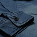 Jaqueta Jeans Masculina Novo Estilo com Capus Manga Longa