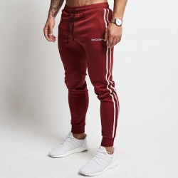 Men's Fit Pants Striped Print Bodybuilding Striped Sweatshirt