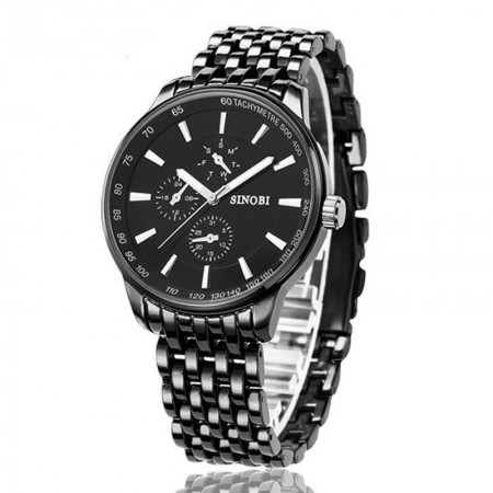 Men's Watch Presidential Elegant Stainless Quartz Sinobi