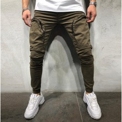 New Fashion Pants Men's Cargo Side Pockets New Casual Model Fit