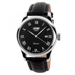 Clock Classic Male Elegant Formal SKMEI Leather Calendar