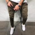 Nova moda Calça Cargo Masculina Bolsos Laterais Novo Modelo Casual Fit