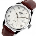 Clock Classic Male Elegant Formal SKMEI Leather Calendar