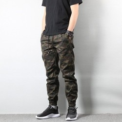 Pants Cargo Print Military Style Elastic Camouflage Casual