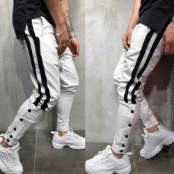 Men's Jogger Pants Modern Comfortably Striped Print