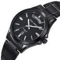 Relógio Sofisticado Elegante Masculino Fino Aço Inoxidável Calendário