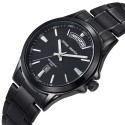 Sophisticated watch Stylish Male Thin Stainless Steel Calendar
