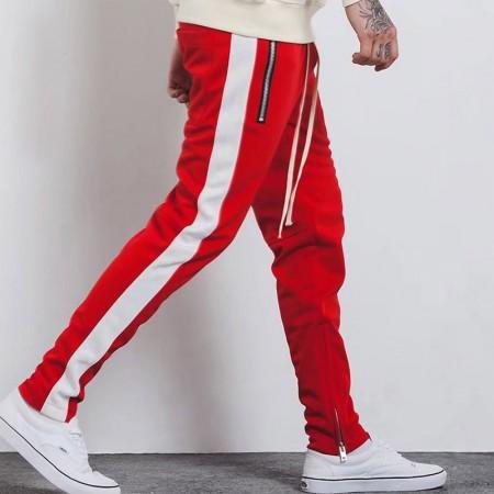 Pants Track Pant Male Model Striped Ziper Lataterais Sweatshirt