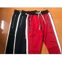 Calça Track Pant Masculina Modelo Listrada Ziper Lataterais Moletom