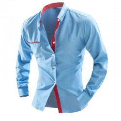Shirt Slim Fit Modern Casual Men's Long Sleeve