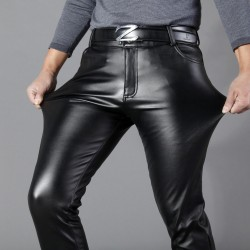 New Fashion Mens Slim Leather Straight Sexy Style