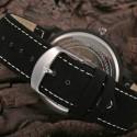 Relógio Casual Miler Quartzo Simples Elegante em Couro Genuíno
