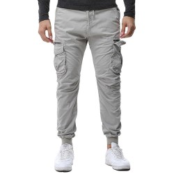 Jogger Pants Elastica Men's Casual Casual Side Pockets