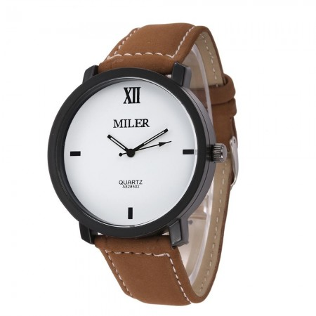 Watch Casual Quartz Miller Simple Stylish Genuine Leather