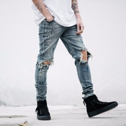 Calça SWAG Masculina Jeans Nova Moda Casual Estilo Rock and Roll.