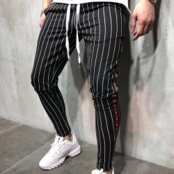Calça de Alfaiataria Masculina Listrada Nova Moda Estilo Listrado