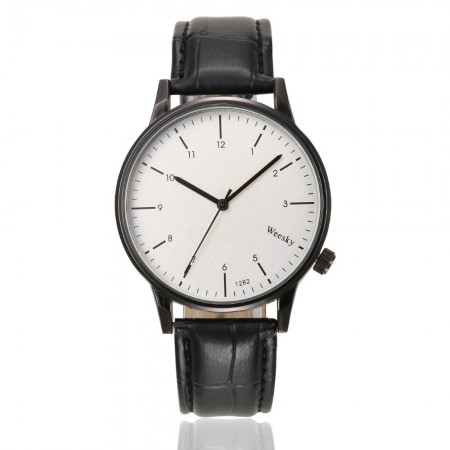 Watch Sophisticated Male Elegant Formal Black Large Quartz