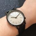 Relógio Sofisticado Masculino Elegante Formal Preto Grande Quartzo