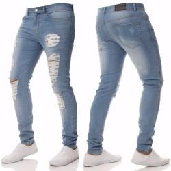 Calça Jeans Skinny Rasgada Masculina Jeans Básica Moda Swag