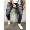 Calça Jeans Masculina Estampas Moda Estilo jovens das Ruas