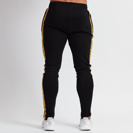 Calça Track Pant Masculina Listrada Tecido Moletom Confortável Treinos