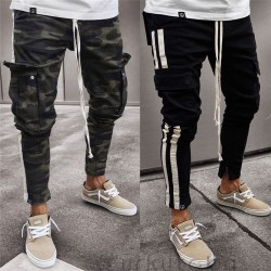 Men's Pants Fashion Sweater Fashion Youth Striped Track Pant