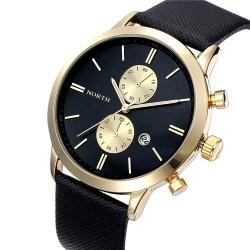 Relógio Formal Elegante Masculino Fino em Couro Grande