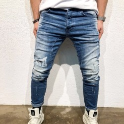 Men's Pants Style Casual Faded Jeans Super Bonita Casual